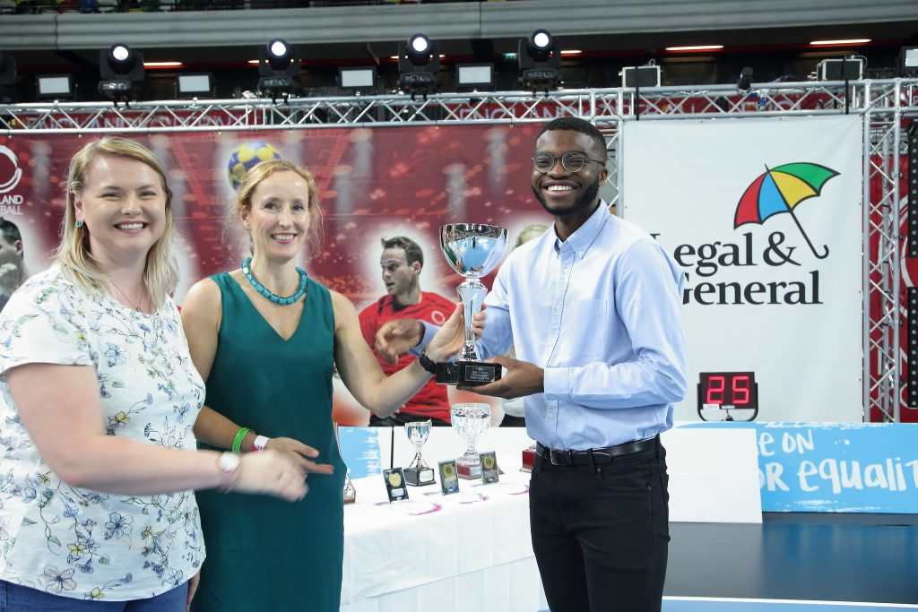 Becky Lewis, BSKA, and Tamara Burnell, Legal & General present the award